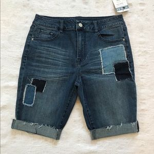 DENIM patchwork Shorts**Size 27
